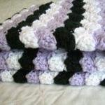 Crochet Purple Baby Blanket..